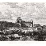 Vue de LAncien Louvre du Cote de la Seine