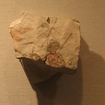 Painted Flake from Ostracon