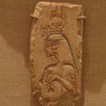 Fragment with Relief of Figure of a Queen