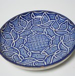 Plate with Abstract Arabesque Leaf Pattern