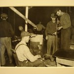 [Untitled] (Men Blowing Glass/Manufacture)