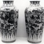 Monumental Vase, One of Pair
