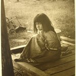 Seminole Indian Girl (Brother and father in background)