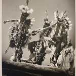 Three Navajo Dancers at Inter-tribal Ceremonial, Gallup, New Mexico, 1952