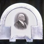 Frame with Portrait Engraving of Man in Profile Facing Right