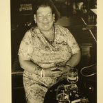 Untitled (Fat, Smiling Woman in Cafe)