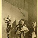 [Untitled]  (Three Ballet Dancers on Stage- Middle Dancer with Back Toward Viewer)