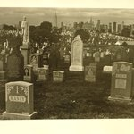 Untitled (Skyline of New York Cemetary)