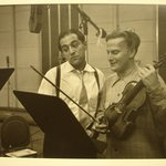[Untitled] (Robert Merrill and Yehudi Menuhin)