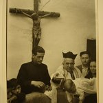 [Untitled] (Christening Scene with Crucifix in Background)