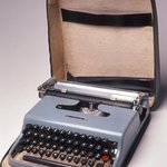 Portable Typewriter with Cover and Carrying Case