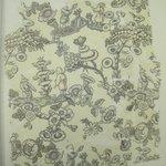 """Textile Fragment, """"Jeux dEnfants Chinois"""""""