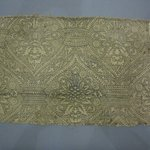 Tan Block Print Textile