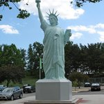 Replica of the Statue of Liberty, from Liberty Storage & Warehouse, 43-47 West 64th Street, NYC
