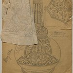 [Untitled] (Sketch of Vase #217) (recto) and [Untitled] (Sketch of Vase #218) (verso)