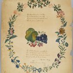 [Untitled] (Poem and Decorative Wreath)