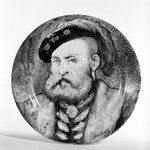 Porcelain Plate with Portrait of Henry 8th