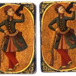 Serbaz or Soldier Playing Card for the Game of Nas