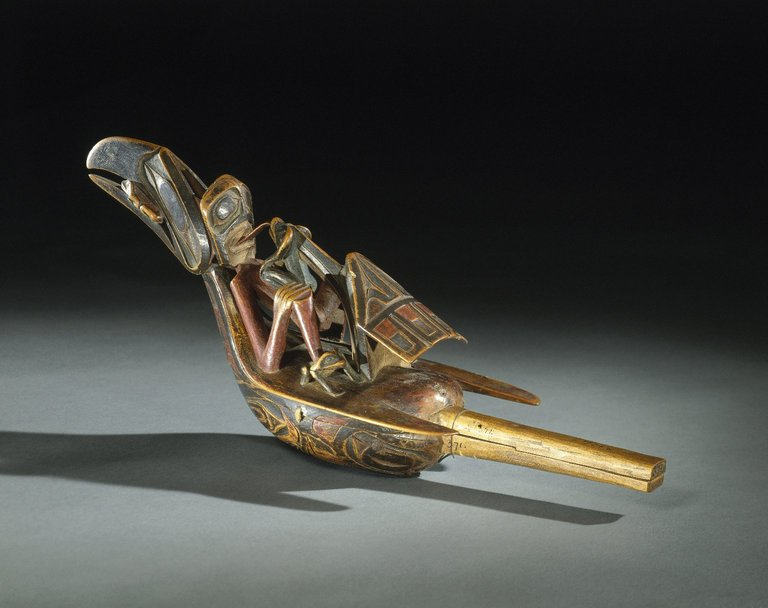 Brooklyn Museum: Raven Rattle
