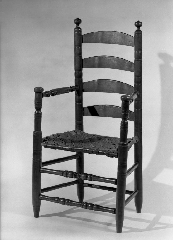 Brooklyn Museum: Armchair - Ladderback, Turned Parts