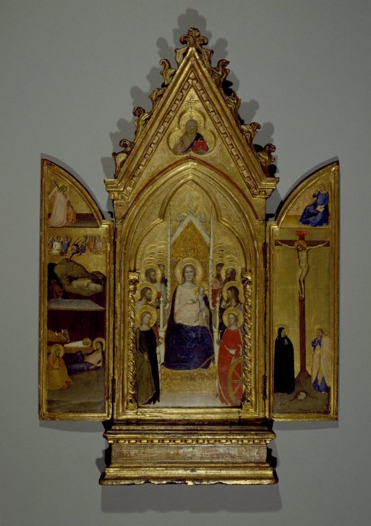 Brooklyn Museum: Madonna with Saints and Scenes of the Life of Christ, portable altarpiece