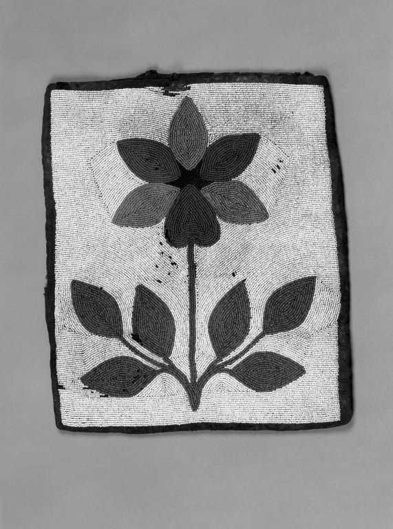 Brooklyn Museum: Ceremonial Bag with Floral Beadwork
