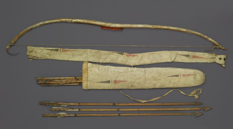 Brooklyn Museum: Bow, Bow Case, Arrows and Quiver