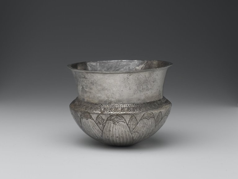 Brooklyn Museum: Bowl with Incised Rosette on Base