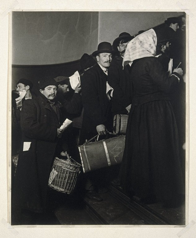 Brooklyn Museum: Climbing into the Promised Land, Ellis Island