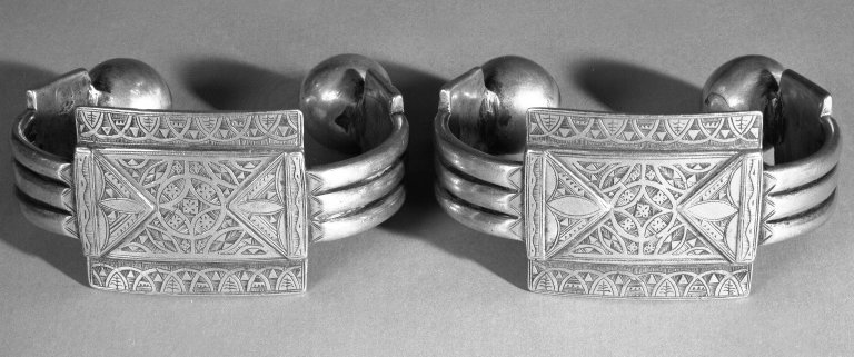 Brooklyn Museum: Pair of Anklets