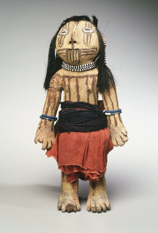 Brooklyn Museum Arts Of The Americas Brown Pottery Doll With Painted Line Designs