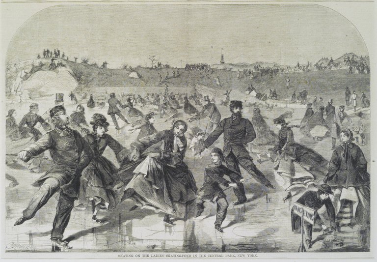 Brooklyn Museum: Skating on the Ladies' Skating Pond in the Central Park, New York