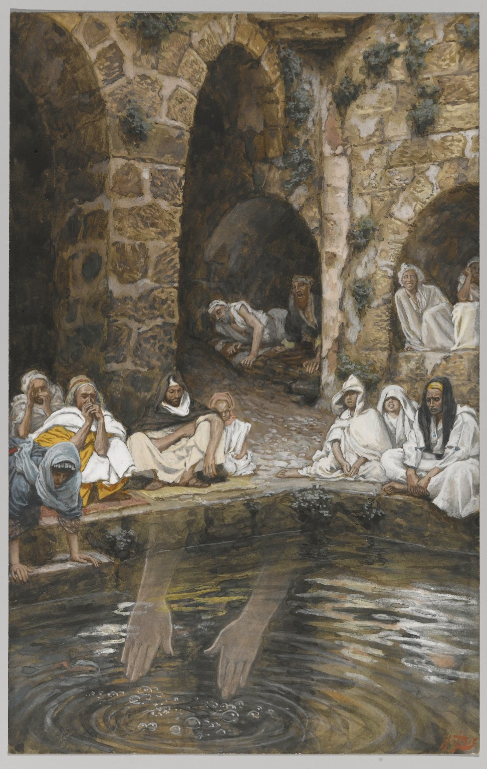 Brooklyn museum european art the piscina probatica or for Piscine tissot