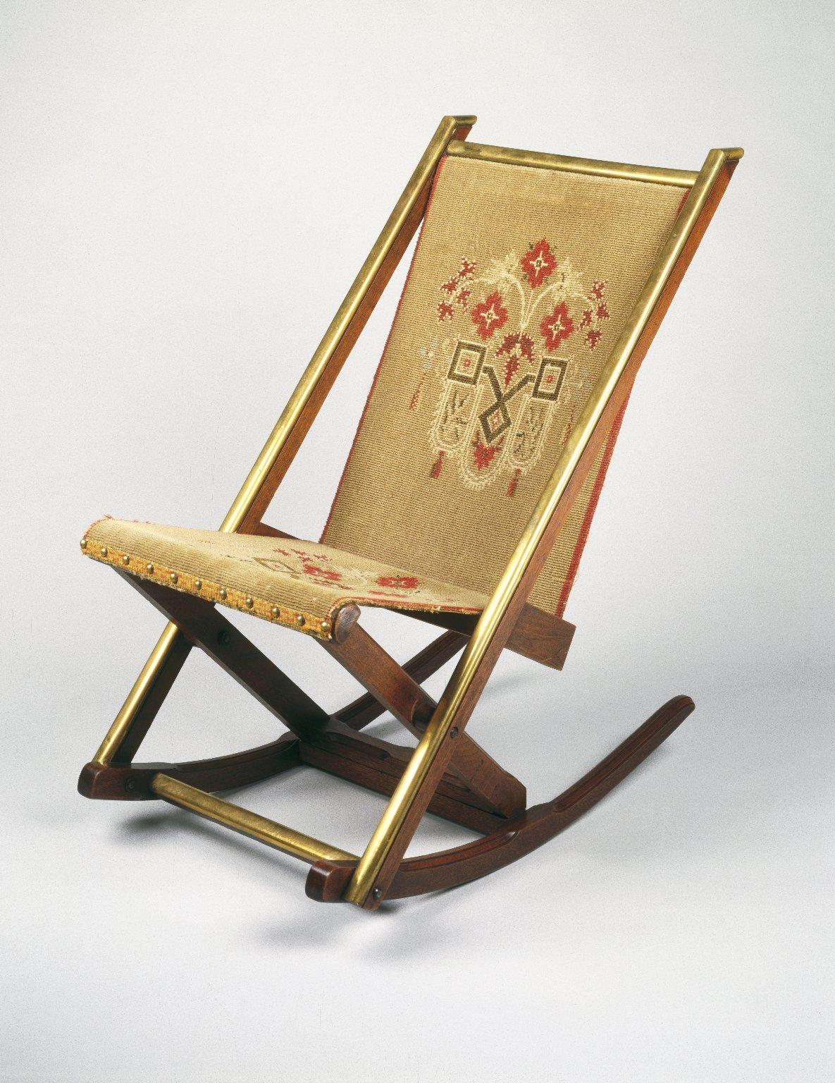 Brooklyn museum decorative arts folding rocking chair