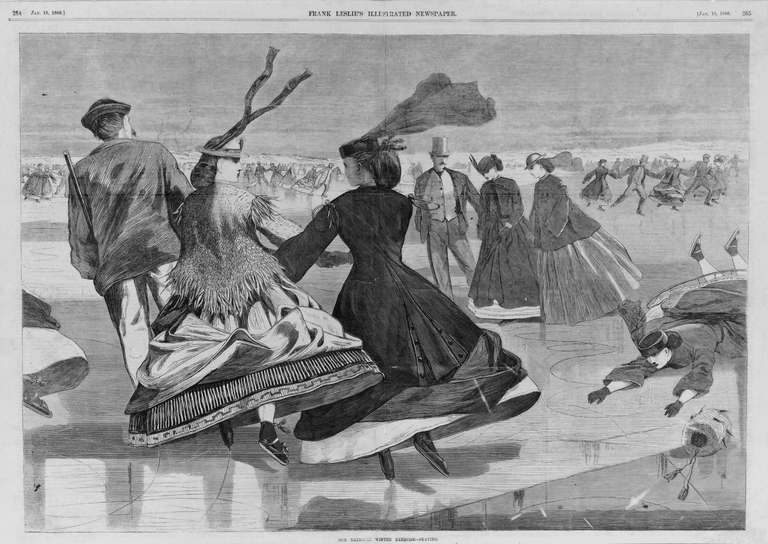 Brooklyn Museum: Our National Winter Exercise--Skating
