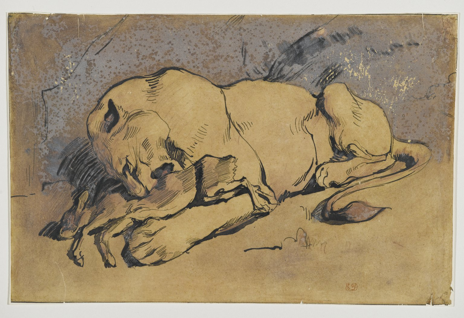 Brooklyn Museum: Lioness Devouring a Rabbit