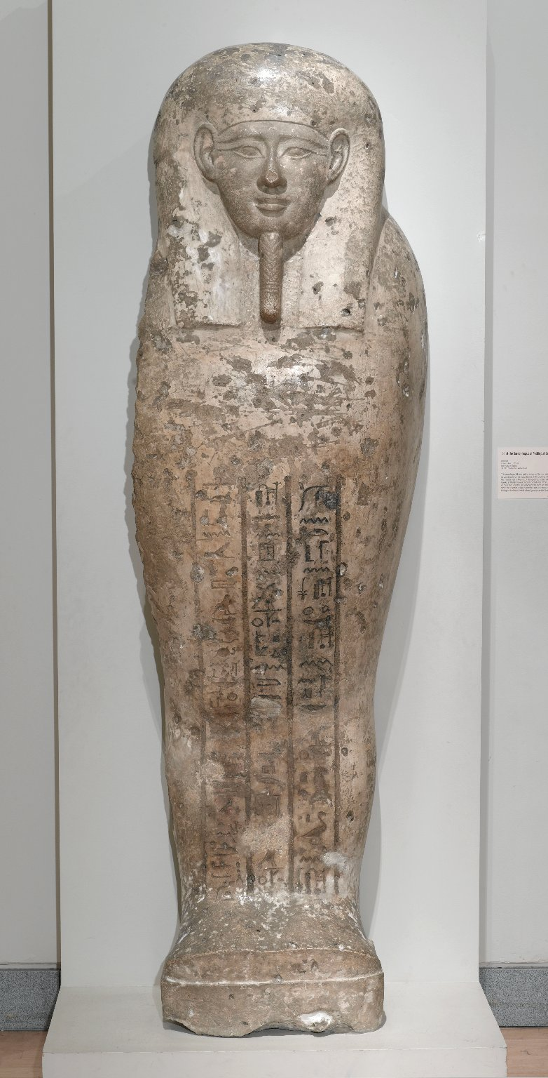 Brooklyn Museum: Sarcophagus Lid of Pa-di-Djehuti