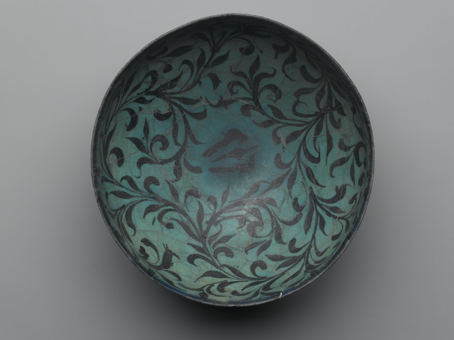 Brooklyn Museum: Bowl with Water-Weed Motif