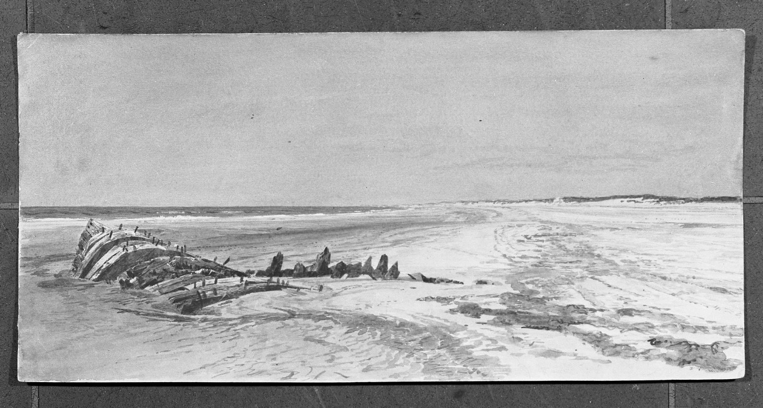 Brooklyn Museum: Beach Scene with Wreck
