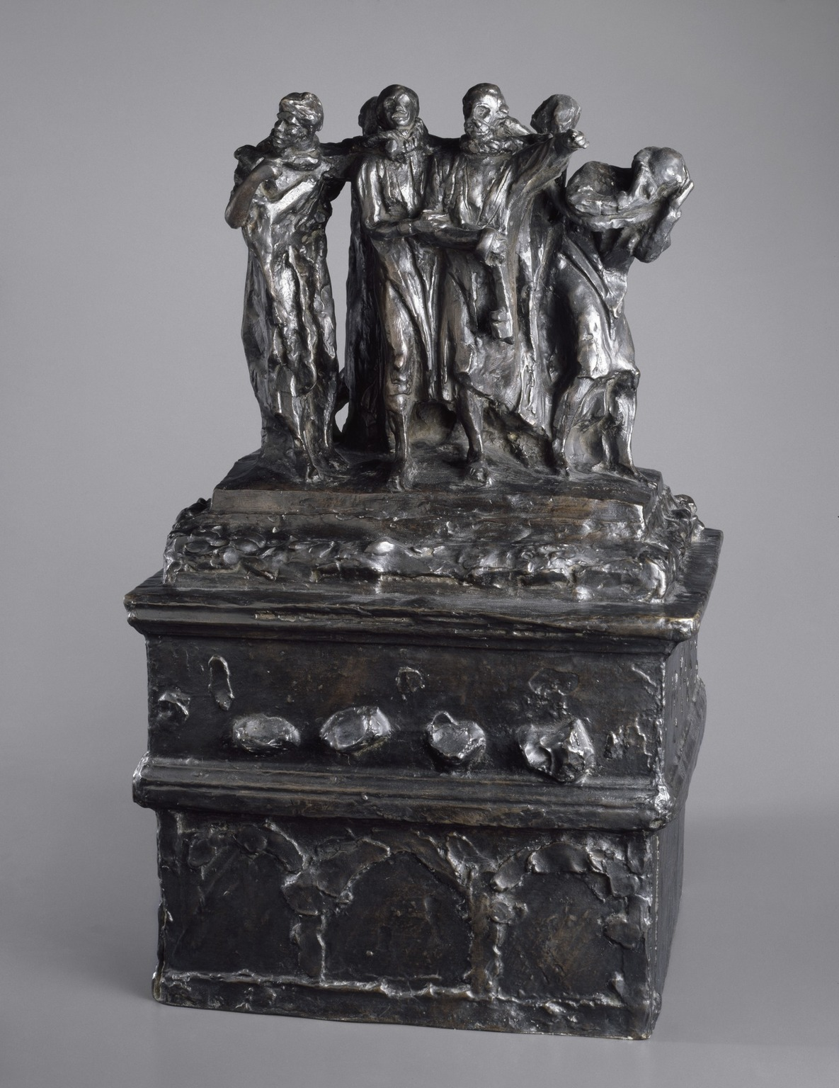 Brooklyn Museum: Monument to the Burghers of Calais, First Maquette (Monument des Bourgeois de Calais, première maquette)