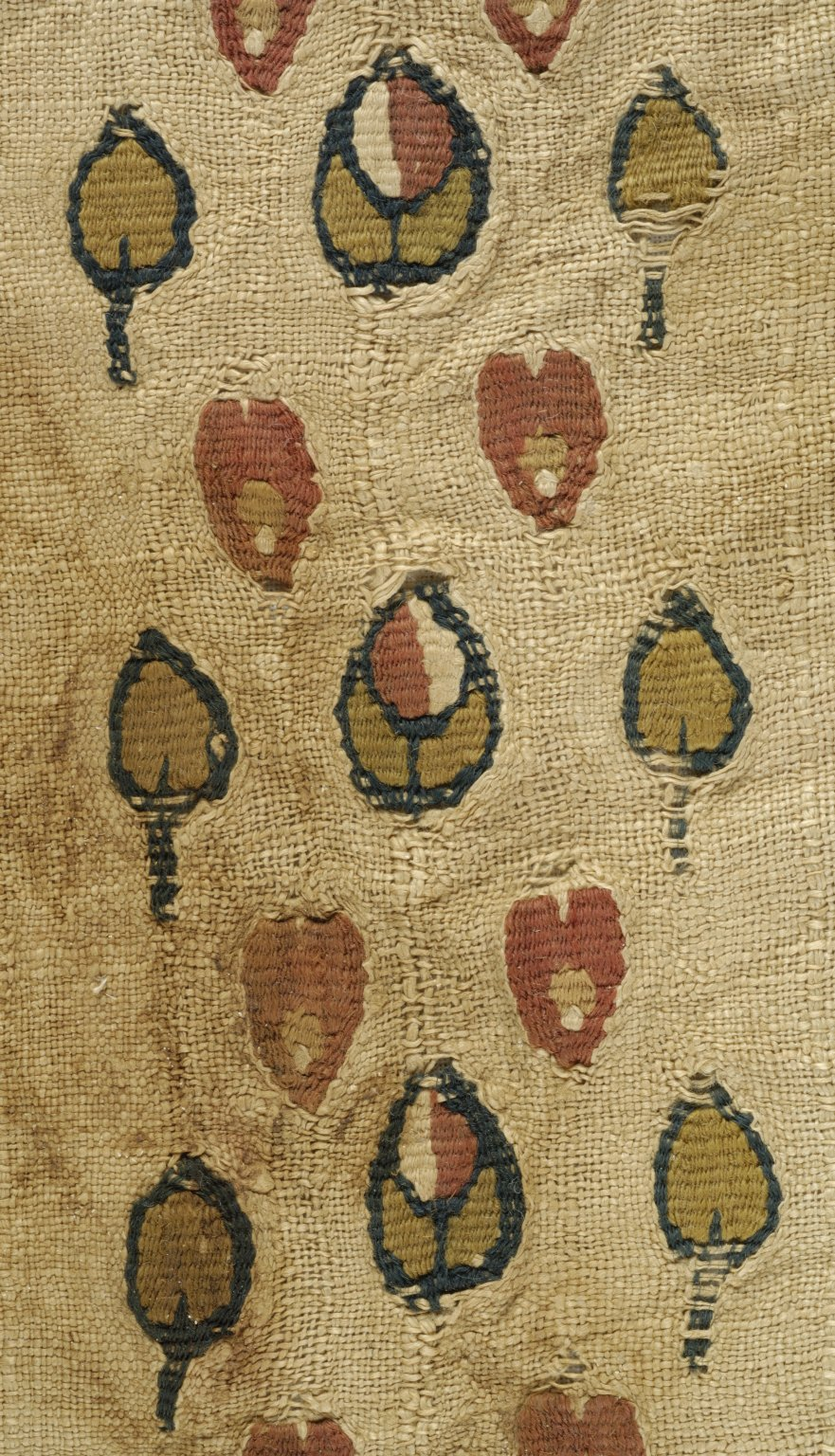 Fragment of Textile with Tapestry Woven Ornaments