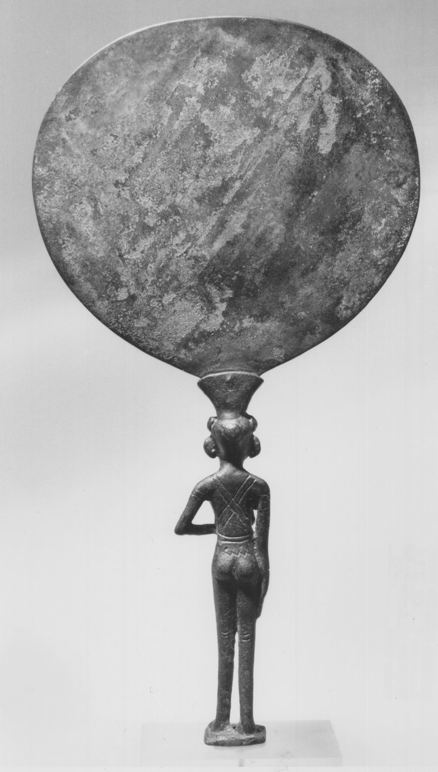 Brooklyn Museum: Mirror with Handle in Form of Girl