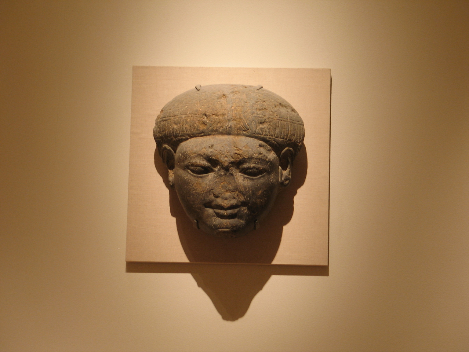 Brooklyn Museum: Face from the Lid of a Sarcophagus