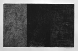 Brice Marden (American, born 1938). Untitled, 1971. Etching on paper, sheet: 23 x 29 1/8 in. (58.4 x 74 cm). Brooklyn Museum, Carll H. de Silver Fund, 1989.130. © artist or artist's estate