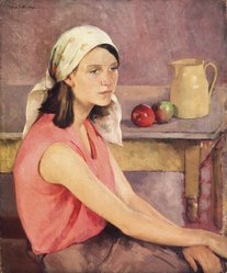 Ivan G. Olinsky (American). The Polish Girl, ca. 1929. Oil on canvas, 36 x 30 in. Brooklyn Museum, Gift of Richard H. and Joan McD Miller, Leonore O. Miller, and John L. Miller, 1989.160. © artist or artist's estate