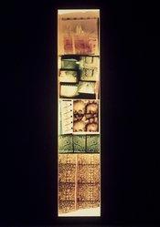 Gordon Matta-Clark (American, 1943-1978). Underground Paris: St. Michel, 1977. Chromogenic photograph with tape, Frame: 100 1/4 x 22 in. (254.6 x 55.9 cm). Brooklyn Museum, Gift of Edward A. Bragaline, by exchange, 1990.108. © artist or artist's estate