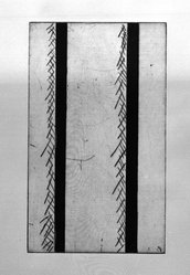 Gunther Forg (German, born 1952). [Untitled], 1989. Etching, aquatint and drypoint, Sheet (folio): 14 5/8 x 12 3/4 in. (37.1 x 32.4 cm). Brooklyn Museum, Helen Babbott Sanders Fund and John W. James Fund, 1990.123.8. © artist or artist's estate