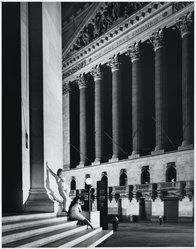 Nelson Bakerman (American, born 1955). New York Stock Exchange, New York City 1987, 1987. Gelatin silver photograph, image: 19 x 14 3/4 in. (48.3 x 37.5 cm). Brooklyn Museum, Caroline A.L. Pratt Fund, 1990.218.2. © artist or artist's estate