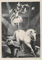 Mabel Dwight (American, 1876-1955). The Circus, 1930. Lithograph on wove paper, Sheet: 17 1/8 x 13 11/16 in. (43.5 x 34.7 cm). Brooklyn Museum, Gift of Gertrude W. Dennis, 1991.153.13. © artist or artist's estate