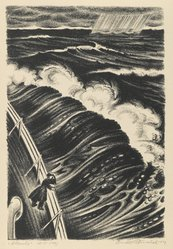 Arnold Ronnebeck (American, 1885-1947). Atlantic, 1929. Lithograph on wove paper, Image: 11 7/16 x 7 3/4 in. (29 x 19.7 cm). Brooklyn Museum, Gift of Gertrude W. Dennis, 1991.153.30. © artist or artist's estate